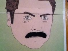 Ron Swanson is a Mustache God.