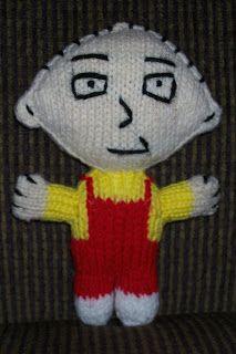 Carissa Knits: Stewie Griffin Doll
