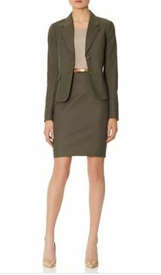 Create this look with our Topstitched 2-Button Jacket and Slant Seam Pencil Skirt from THELIMITED.com Other colors and styles available. #TheLimited #LTDWellSuited