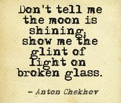 Don't tell me the moon is shining... #quote #writers #authors