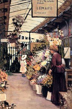 The Flower Market, Marguerite Rousseau