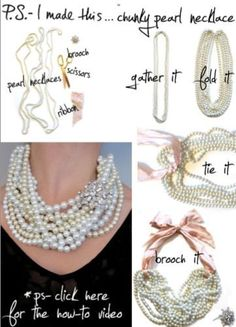 P.S.- I made this... Chunky Pearl Necklace