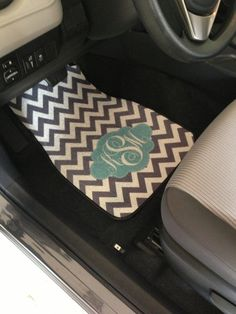 Personalized Car Mats, after my monogram changes of course!