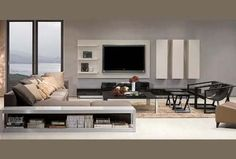 Modern tv wall on Pinterest