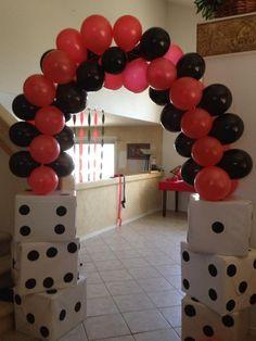vegas parties, vega parti, balloon arch casino