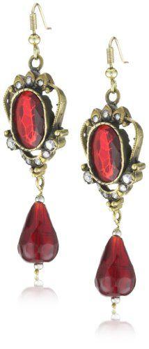 "Taara ""Mughal Collection"" Vintage Garnet and Crystal Earring"