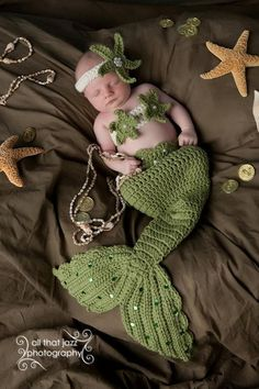 OMG !!!!!!! Crochet Baby Mermaid Tail Prop Sets 03mons  by CrochetbyBernadette, $46.00