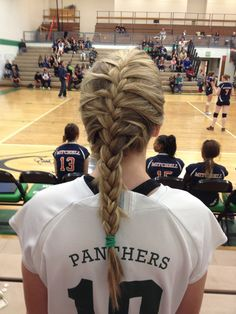 French Braid #hairstyle #workout #gym #women #beauty #hair #fitness