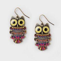 Owl Drop Earrings | Claire's