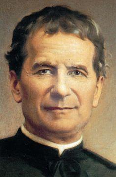 Clásica imagen de Don Bosco