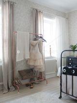 Love the copper hanging rail hang rail, boudoir bedroom, copper hang