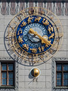 Old Town Hall Zodiac Clock, Munich, Germany