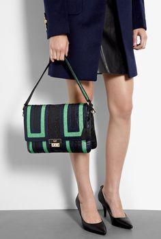 Crinkled Leather Ebenezer Shoulder Bag by Anya Hindmarch
