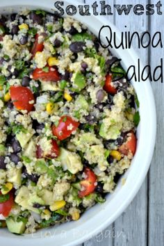 Southwest Quinoa Salad --  Clean eating side  perfect for any cookout!  LuvaBargain.com