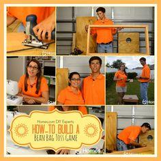 @Sarah Kellam.com  DIY Experts: How-to Build a Bean Bag Toss Game #DIY