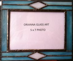 Stained Glass Picture Frame by OriAnnaGlassArt on Etsy, $25.00