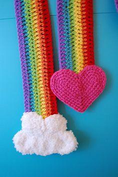 rainbow scarf pattern