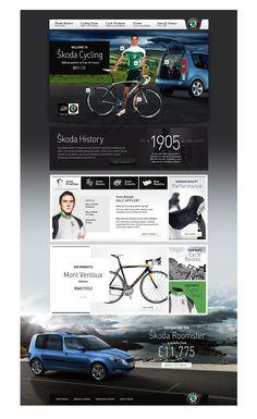 Tim Cleary + Hintonmedia - Skoda Cycling | #webdesign #it #web #design #layout #userinterface #website #webdesign <<< repinned by an #advertising #agency from #Hamburg / #Germany - www.BlickeDeeler.de | Follow us on www.facebook.com/BlickeDeeler