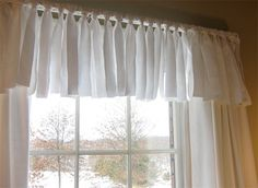Home-Dzine - Quick and easy curtain topper