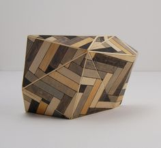 Tom Lauerman, Parquet Building Block, paper, wood, ink, gouache, shellac, 2012