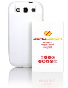 [180 days warranty] ZeroLemon Samsung Galaxy S III 7000mAh Extended Battery + Free White Extended TPU Full Edge Protection... $33.99 #topseller