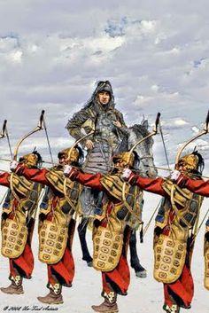 Arqueros Mongoles, Séptima Cruzada