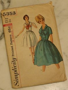 Simplicity 5353  Vintage 1960s Party Dress by EleanorMeriwether, 8.00