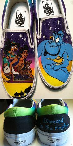 Aladdin Shoes by KissaThisArt on Etsy, $135.00