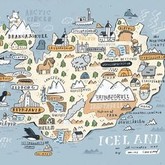 """Sneak peek at my Iceland map #iceland #sketchbook available soon. Email me."""