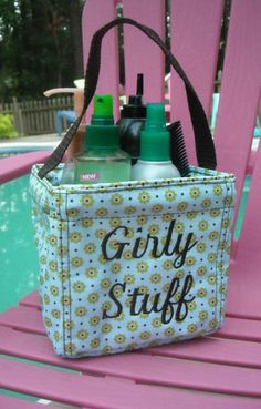 The Littles Carry All is great for bathroom stuff