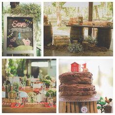 Rustic barnyard farm themed birthday party on www.KarasPartyIdeas.com