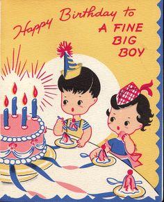 birthday card, happy birthdays, child birthday, vintag birthday, happi birthday