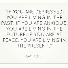 That must explain why I'm a worrier.  I need to try living more in the present.