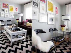 Chic gallery wall from @HGTV #DesignStar 's Britany Simon's portfolio: Modern Glam ...