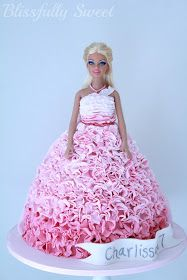 Claire has requested this cake for her next birthday bliss sweet, ruffl barbi, pink ruffl, 16th birthday, girl cakes, ombr pink, barbi cake, barbi birthday, birthday cakes