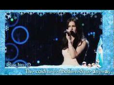 """""""Let It Go"""" - Idina Menzel Oscars Performance (Full Video) w/ Lyrics"""