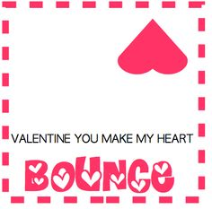 Actually made something I found on Pinterest! I am stapling these to a bag with a bouncy ball for Brady's Valentines!
