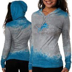 Detroit Lions Ladies Tie Dye Long Sleeve Hoodie Premium T-Shirt