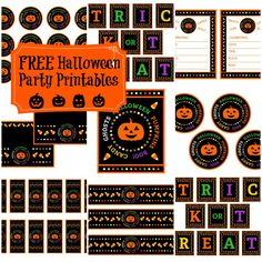 """Free """"candy corn"""" Halloween party printables #halloween #free #printables #party"""