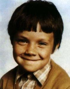 Robbie Williams as a child.