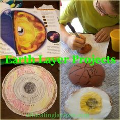 Hands-On Earth Layer Projects - use a hard boiled egg to show the layers of the earth.