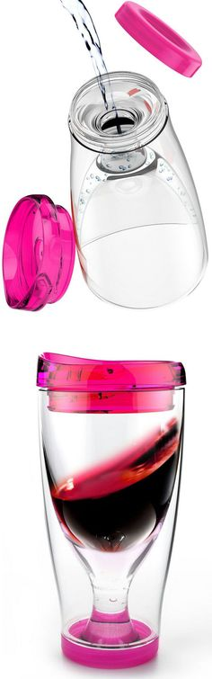 Wine Cup 2 Go - Fill the Bottom with Water, Freeze it & Keep your Wine Cool Without Watering it Down! #brilliant #love #want