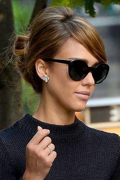Jessica Alba's elegant updo. Love Jessica alba