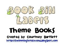Book Labels for Theme Books