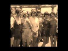 1929 Chorus girl practice.