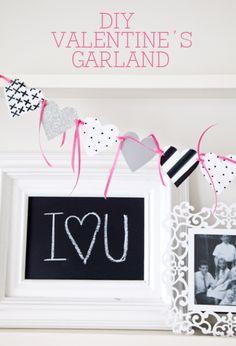 Easy DIY Valentine's Garland on { lilluna.com }