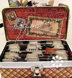 Christmas Memory Tin Inside by Kristin Wilson - Keep a photo of each Christmas!