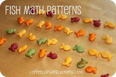 {One Fish Two Fish Red Fish Blue Fish Activities} Love edible math fun!