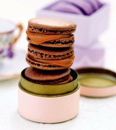 Chocolate Macarons with Salted Caramel