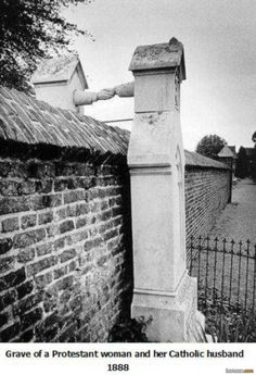Grave of a Protestant woman and her Catholic husband 1888